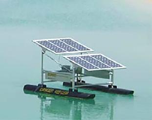 flutuador solar