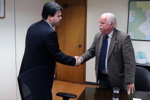 O Ministro Fernando Coelho Filho com o presidente da ABDAN, Antonio Muller - Foto: Francisco Stuckert/MME