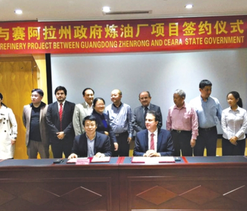 Refinaria chinesa Ceara - Guangdong Zhenrong Energy
