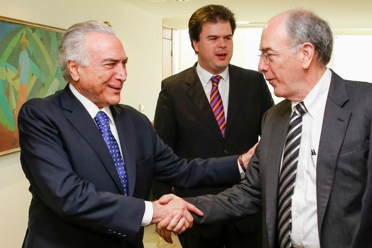 Michel Temer, Fernando Coelho Filho e Pedro Parente